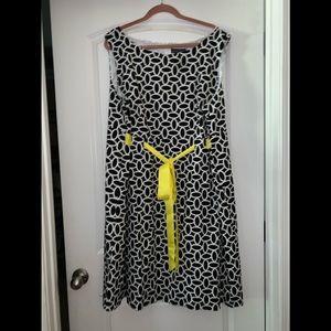 Size 24W Black/White dress Jessica Howard